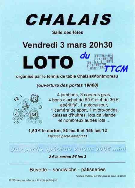 Affichette Loto TTCM 03 03 2017