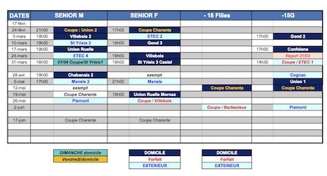 Tableau HBC Calendrier 2017 2018 2eme phase